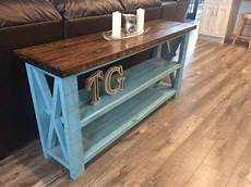 Rustic Wood Sofa Table 3d Image by White Rustic X Sofa Table Diy Projects