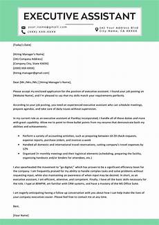 Executive Administrative Assistant Cover Letter Sample Executive Assistant Cover Letter Example Amp Tips Resume