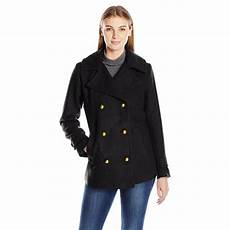womens pea coats active s basic peacoat with dome button black