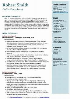 Collection Resume Examples Collections Agent Resume Samples Qwikresume