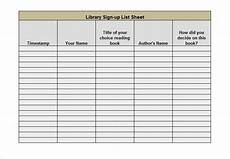 Free Template For Sign Up Sheet How Have Websites Made A Sign Up Sheet Simple Fotolip