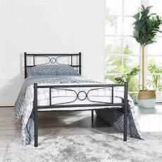 teraves easy set up premium metal bed frame platform
