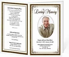 Free Printable Memorial Templates Simple Elegant Frame Funeral Programs Templates Diy