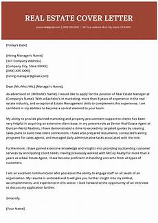 How To Cover Letter Real Estate Agent Cover Letter Example Resume Genius