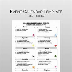 Calendar Of Events Template Word Monthly Calendar Of Events Flyer Template Event Calendar