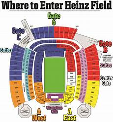 Pittsburgh Steelers Stadium Seating Chart Heinz Field Seating Charts And Stadium Diagrams