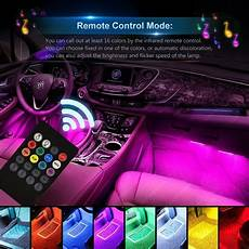 48 Interior Smart Lighting Kit Car Led Light Wsiiroon 4pcs 48 Led Multicolor Music