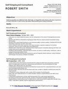 Resume Self Employed Self Employed Consultant Resume Samples Qwikresume
