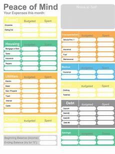 Home Budget Worksheets Printable Budget Home Budget Worksheet Colorful Budget