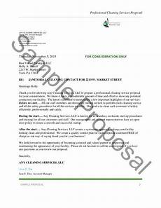 Cleaning Business Proposal Sample Business Proposal Template For Cleaning Services Business
