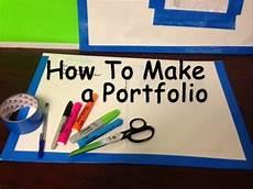 How To Make A Work Portfolio How To Make An Art Portfolio Youtube