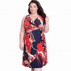 Dress For Fat Lady Design 2018 Floral Print Dress Summer Woman Dress Fat Mm Plus
