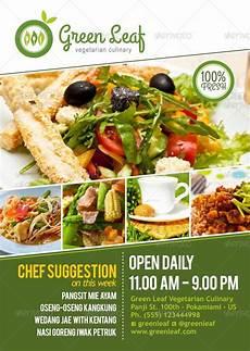 Restaurant Poster Vegetarian Restaurant Menu Amp Poster By Royan Graphicriver