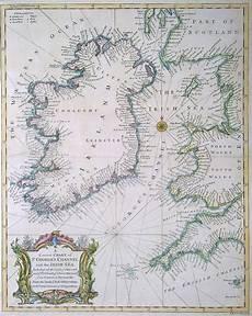 Sea Charts Ireland Original 18th Century Chart Of The Irish Sea Circa 1745