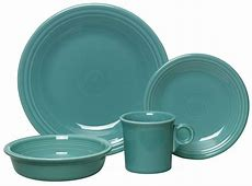 Fiesta Ware 4 Piece Dinnerware Place Setting, Turquoise