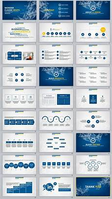 Powerpoint Presentations Template 27 Blue Business Report Professional Powerpoint Templates