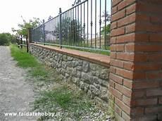 ringhiera giardino muretto in mattoni esterno cemento armato precompresso