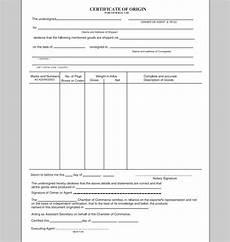 Generic Certificate Of Origin Template Certificate Of Origin Template E Commercewordpress