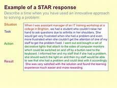 Star Response Method Interview Techniques Workshop