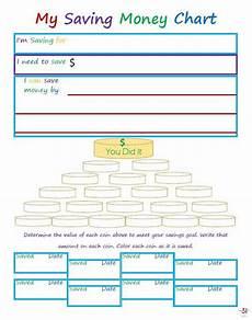 Savings Goal Chart Teaching Children About Saving Money Organized 31