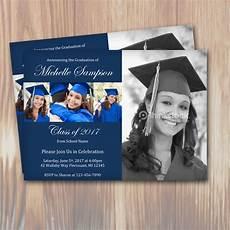 Graduation Announcements Invitations Customizable Color Graduation Party Invitation Template