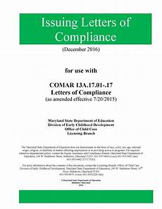 Compliance Cover Letters Letters Of Compliance Manual Division Of Early Childhood