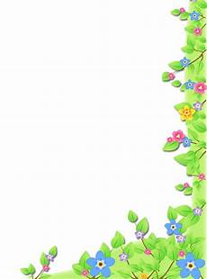Side Border Designs Green Flowers Corner One Side Flower Frame Borders And