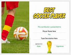 Soccer Certificate Templates For Word Best Soccer Player Award Certificate Templates For Word