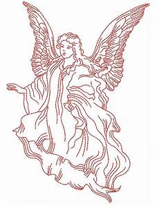 Christmas Angel Designs Redwork Angels Designs Machine Embroidery Designs By Sew