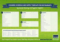 Restaurant Cleaning Schedule Download Cleaning Schedule And Supply Template For