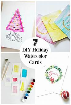 Water Color Cards 7 Diy Holiday Watercolor Cards To Send Out To Friends