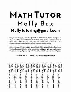 Math Tutor Flyer Examples Tutoring Flyer On Behance