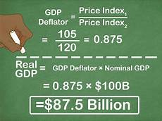 Formula For Nominal Gdp How To Calculate The Growth Rate Of Nominal Gdp 13 Steps