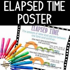 Md Dnr Tide Chart Elapsed Time Anchor Chart Poster By Sennsational Learning