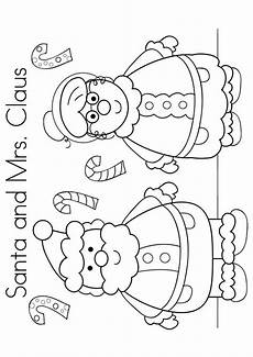 free printable mr mrs santa claus coloring picture
