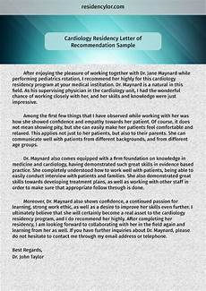 Letter Of Recommendation For Residency Check Our Professional Sample Lor For Residency Here