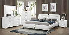 coaster felicity platform bedroom set white 300345 bed