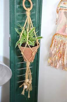 diy porte plante macram 233