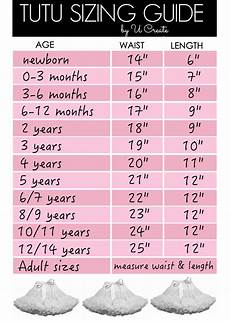 Tulle Clothing Size Chart Tutu Sizing Guide Chart Diy Tutu Sewing For Kids Tutu