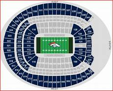 Denver Broncos Club Level Seating Chart Broncos Stadium Seating Amulette