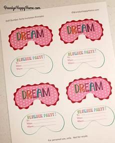 Free Printable Slumber Party Invitations Diy Doll Slumber Party