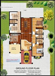 Villa Floor Plans Floor Plans Kerala Villa Plan And Elevation 2627 Sq