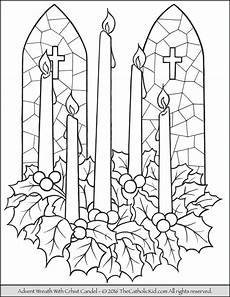 advent wreath candle coloring page advent