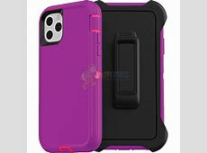 iPhone 11 Defender Case   Purple / Red   cell phone parts