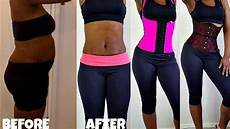 before and after slimming waist trainer results