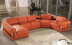 Modern Leather Sofa 3d Image by 2315b Modern Orange Leather Sectional Sofa