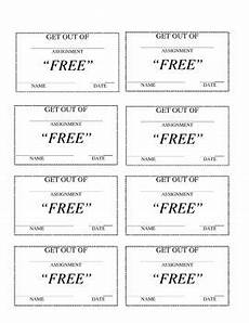 Homework Pass Template Word Get Out Of Homework Pass No Homework Pass Homework Pass