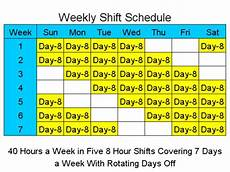7 Day Roster Patterns 8 Hour Shift Schedules For 7 Days A Week 2 Free Download