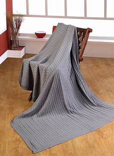homescapes cable knit throw grey 100 cotton 150