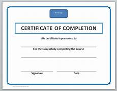 Generic Certificate Of Completion 13 Free Certificate Templates For Word Microsoft And